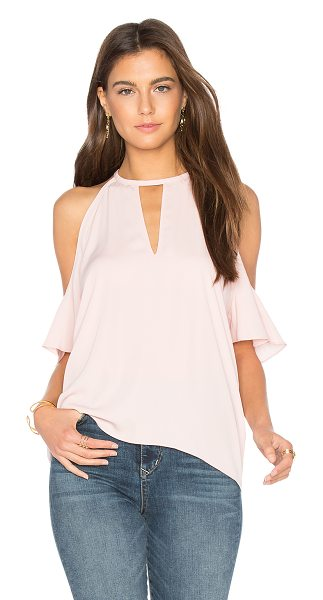 Amanda Uprichard Celia Top in pink - 100% poly. Dry clean only. Neckline keyhole. Open...
