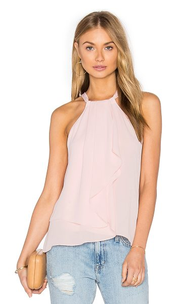 Amanda Uprichard Chauncey Tank in rose - Poly blend. Dry clean only. Front keyhole with tie...