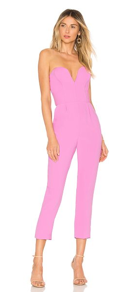 "Amanda Uprichard X REVOLVE Cherri Jumpsuit in pink - ""Self & Lining: 100% poly. Dry clean only. Non-slip..."