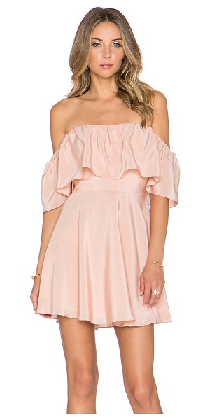 AMANDA UPRICHARD Delilah dress in blush - Self: 100% silkLining: 100% poly. Dry clean only. Fully...