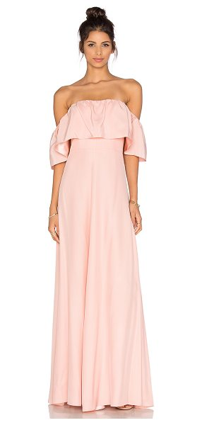 Amanda Uprichard Delilah Maxi Dress in pink - Silk blend. Dry clean only. Fully lined. Elastic...