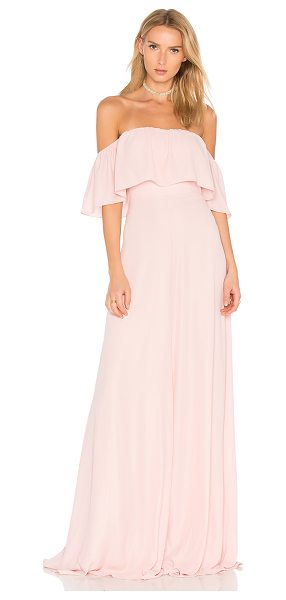 """Amanda Uprichard Delilah Maxi in pink - """"Silk blend. Dry clean only. Fully lined. Non-slip..."""