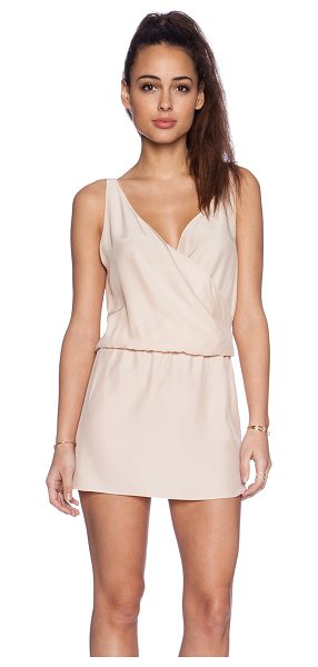 AMANDA UPRICHARD Double crossover dress in blush - 100% silk. Dry clean only. Unlined. Elasticized waist....