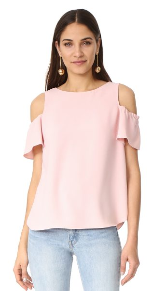 Amanda Uprichard dryden top in dusty rose - A boxy Amanda Uprichard blouse with cutouts at the...