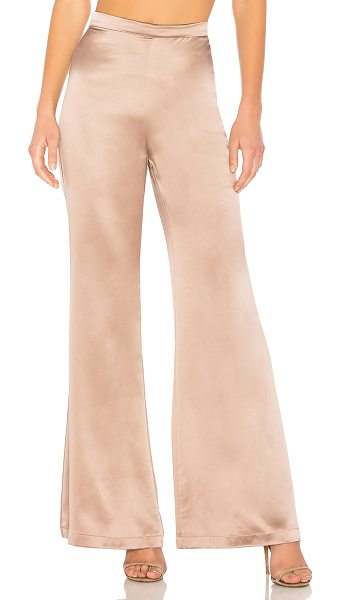"Amanda Uprichard Elliot Pants in taupe - ""100% silk. Dry clean only. Hidden back zipper closure...."