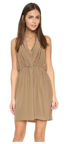 Amanda Uprichard Ginger dress in taupe - A sweet Amanda Uprichard dress in fluid silk charmeuse....