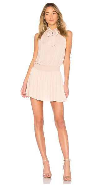 Amanda Uprichard Irving Dress in beige - Poly blend. Dry clean only. Partially lined. Neck tie...