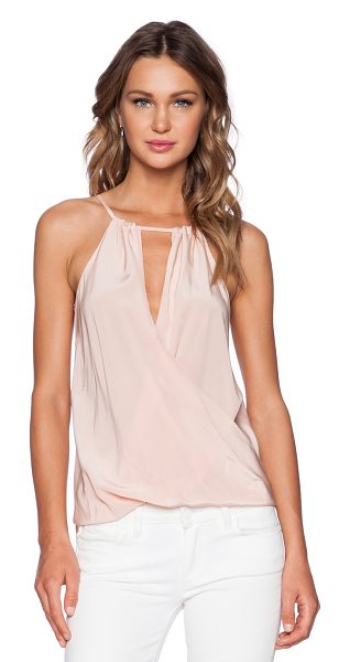 Amanda Uprichard Janica top in peach - 100% silk. Dry clean only. Back tie closure. AMAN-WS379....