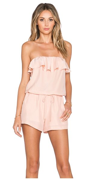 Amanda Uprichard Joan romper in blush - Self: 100% silkLining: 100% poly. Dry clean only....