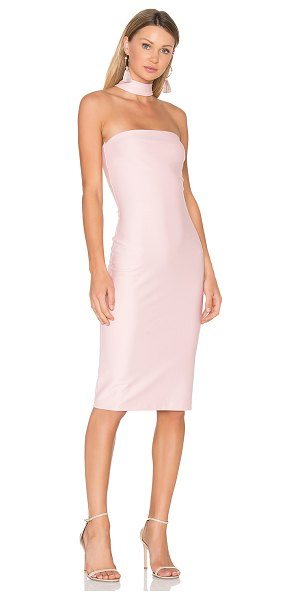 Amanda Uprichard Kimora Dress in pink - Cotton blend. Dry clean only. Unlined. Front zipper...
