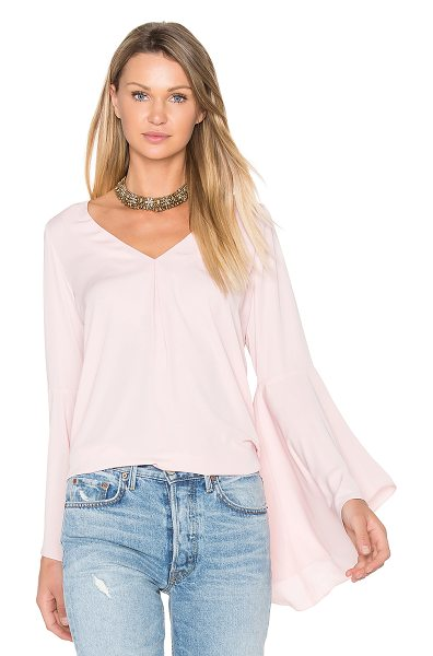Amanda Uprichard Laura Top in pink - Poly blend. Dry clean only. Pleat detail on front and...