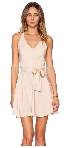 Amanda Uprichard Louisa Dress in blush - 100% silk. Dry clean only. Partially lined. Back...