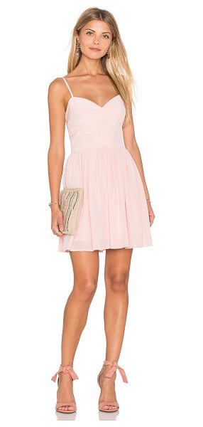 Amanda Uprichard Mai Tai Mini Dress in pink - 100% silk. Dry clean only. Partially lined. Adjustable...