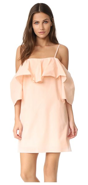 Amanda Uprichard marise dress in shell - A draped overlay accents the open-shoulder neckline on...