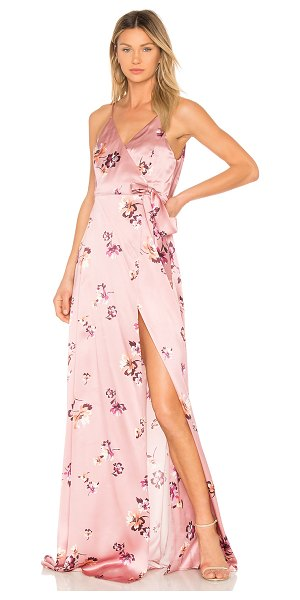 Amanda Uprichard McCanna Gown in pink - Silk blend. Dry clean only. Partially lined. Wrap front...