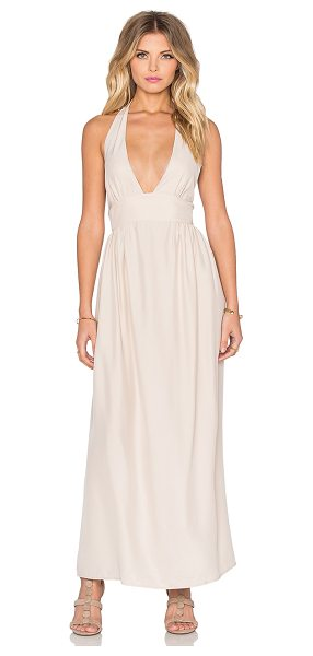 Amanda Uprichard Mercer Halter Maxi Dress in blush - 100% silk. Dry clean only. Unlined. Smocked back....
