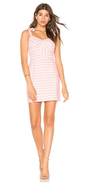 Amanda Uprichard Monticello Dress in pink - Cotton blend. Dry clean only. Fully lined. Shoulder tie...