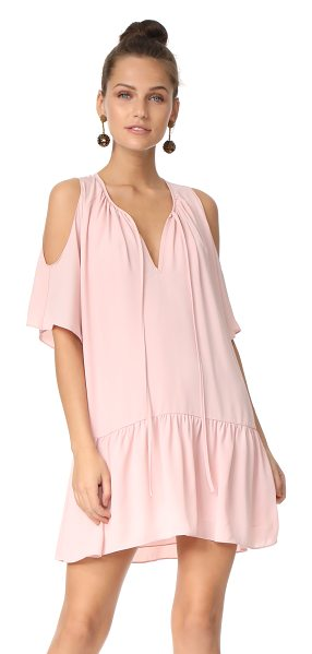 Amanda Uprichard ora dress in dusty rose - A ruched, drop-waist skirt lends flirty swing to this...