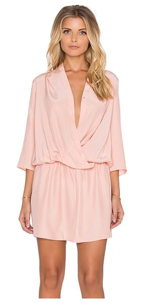Amanda Uprichard Paloma Dress in blush - 100% silk. Dry clean only. Unlined. Wrap front with...