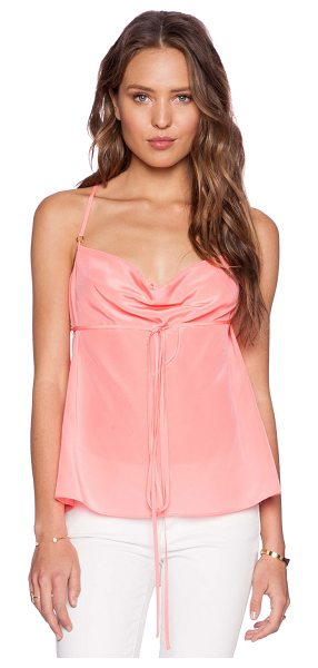 Amanda Uprichard Shay cami in coral - 100% silk. Dry clean only. Adjustable shoulder straps...