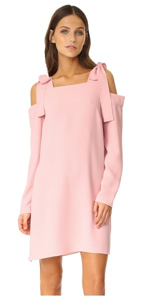 AMANDA UPRICHARD tie dress in dusty rose - Exclusive to Shopbop. Bows accent the cutout shoulders...