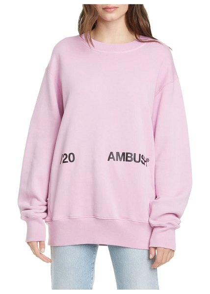 AMBUSH logo sweatshirt in pink