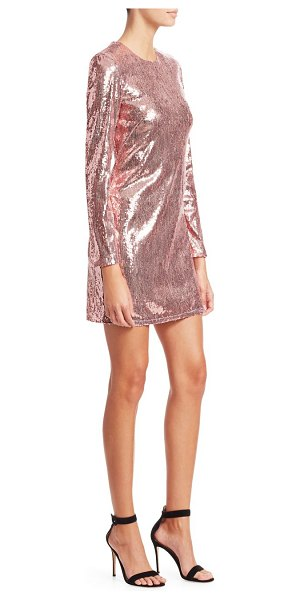 AMEN sequin cutout mini dress in light pink - This spankly dress is dusted with pastel pink sequins...