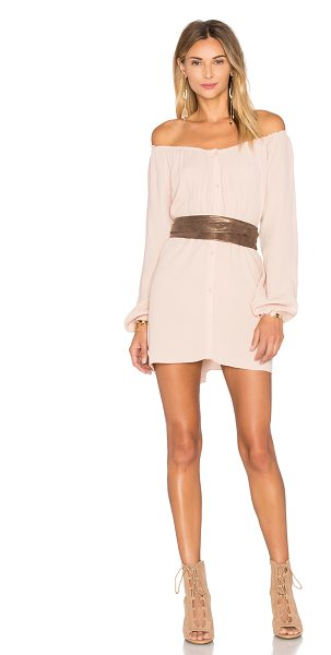 American Vintage Abysville Long Sleeve Tunic Dress in blush - 100% viscose. Hand wash cold. Unlined. Elasticized...