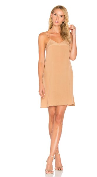 American Vintage Azawood Slip Dress in tan - 63% cupro 37% viscose. Dry clean only. Unlined....