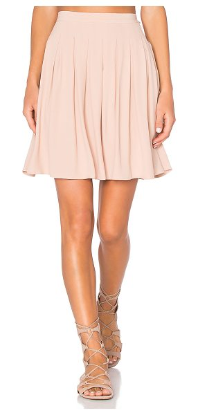 """American Vintage Holiester Pleated Mini Skirt in blush - """"100% viscose. Unlined. Side hidden zipper with button..."""