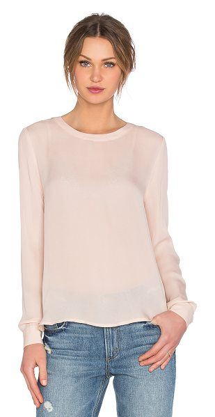 American Vintage Jamestown long sleeve top in blush - 100% silk. Hand wash cold. Semi-sheer fabric. Pleated...