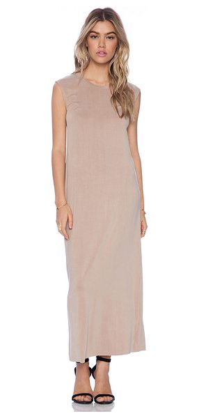 American Vintage Joliette maxi dress in blush - 92% curpro 8% elastane. Dry clean only. Unlined. Raw...