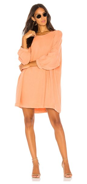American Vintage Katetown Dress in peach - 100% lyocell. Unlined. Banded sleeves. AMER-WD219....