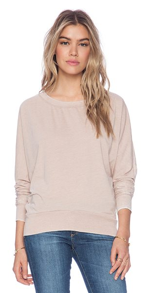 American Vintage Leophile sweater in blush - 50% cotton 50% poly. Dolman sleeves. AMER-WK91....