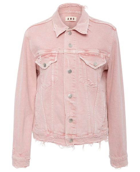 AMO Vintage Stretch Pink Denim Jacket in pink - AMO Vintage Stretch Pink Denim Jacket