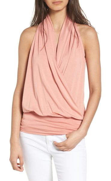 amour vert 'agnes' surplice tank in rose dawn - Soft modal jersey fashions a sleeveless top with an...
