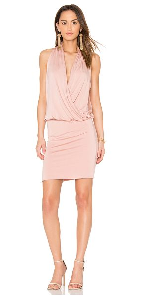 amour vert Aline Dress in pink - 96% modal 4% spandex. Fully lined. Draped front. Back...