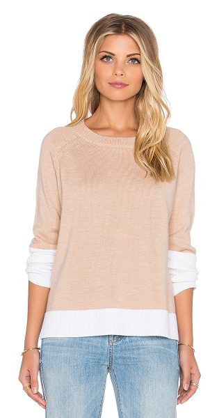 AMOUR VERT Keiran sweater in tan - 100% merino wool. Hand wash cold. AMOU-WK5. 5188. San...