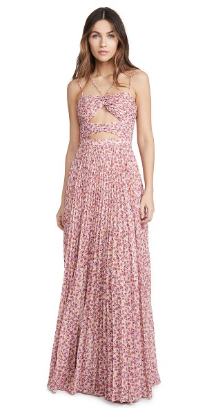 AMUR lana dress in bright orchid ditsy rosa