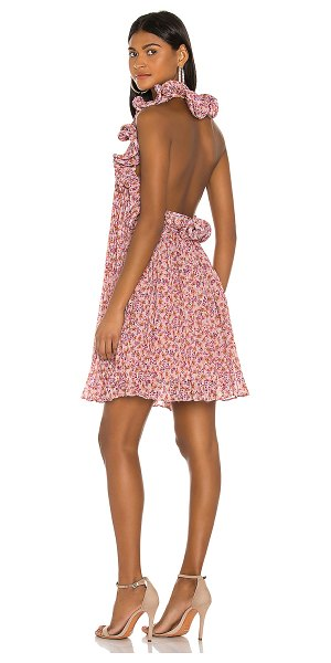 AMUR mimi dress in orchid hush ditsy rosa floral