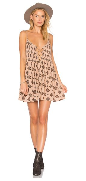 AMUSE SOCIETY Baja Dress in rose - Rayon blend. Hand wash cold. Unlined. Adjustable...