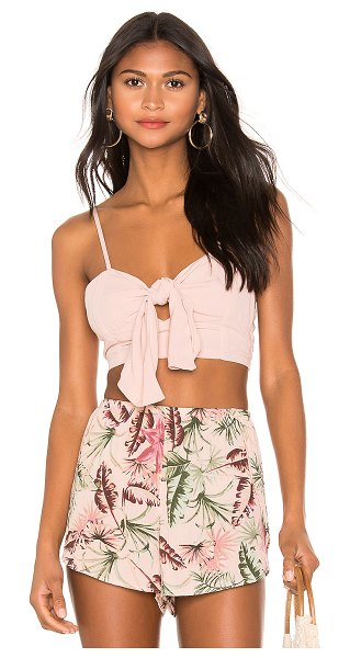 AMUSE SOCIETY camila top in light pink