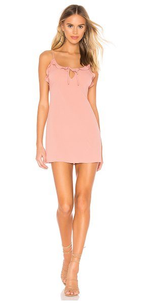 AMUSE SOCIETY Contigo Dress in pink - 100% poly. Hand wash cold. Unlined. Crinkled crepe...