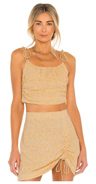 AMUSE SOCIETY louise woven tank in baked clay
