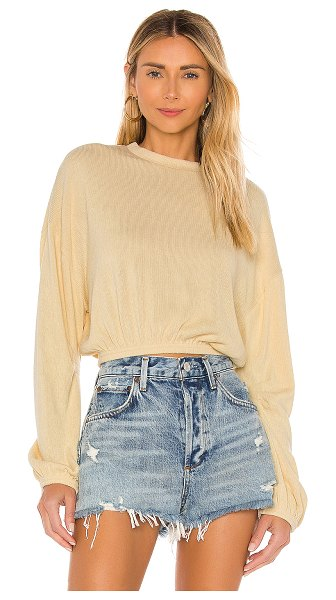 AMUSE SOCIETY melo long sleeve top in bone