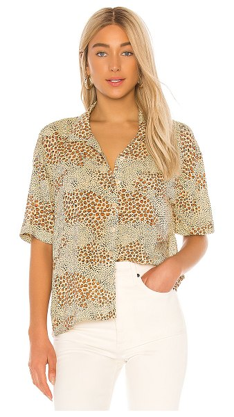 AMUSE SOCIETY wildcat woven blouse in natural