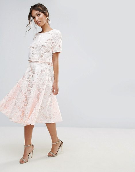 """Amy Lynn Occasion Floral Lace A Line Midi Skirt in cream - """"""""Skirt by Amy Lynn, Crochet lace, Fully lined,..."""