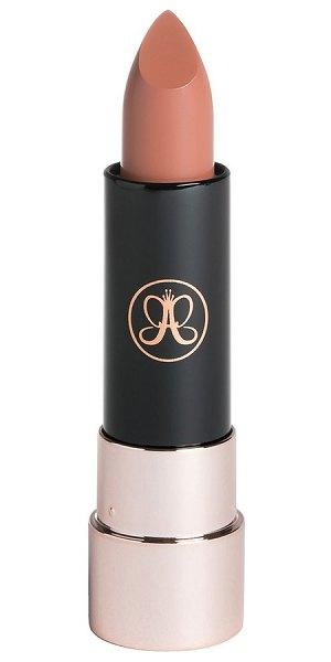 Anastasia Beverly Hills matte lipstick in peachy - What it is: An intensely pigmented, cult-favorite matte...