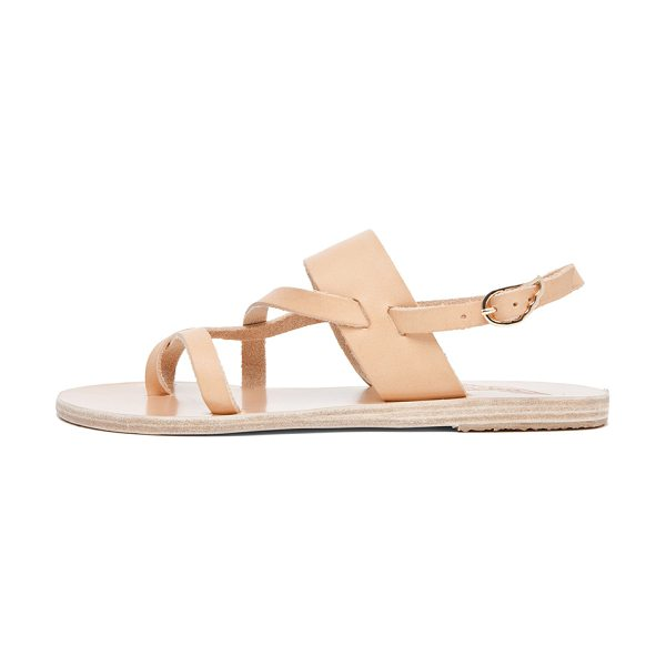 Ancient Greek Sandals Alethea Calfskin Leather Sandals in natural - Calfskin leather upper and sole. Made in Greece. Ankle...