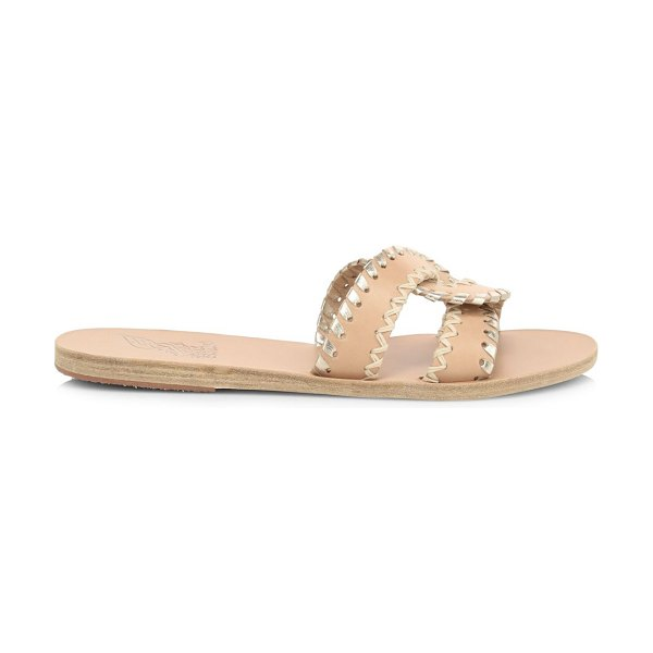 Ancient Greek Sandals desmos flat whipstitch leather sandals in natural